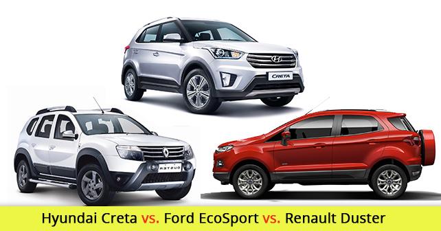 Hyundai Creta Vs Ford EcoSport Renault Duster Comparison