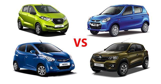 RediGO vs Kwid vs Hyundai Eon vs Alto 800 Comparison - autoX