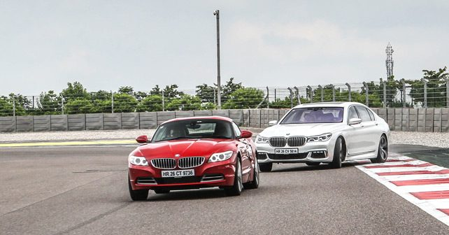 bmw z4 vs bmw 7 series track test