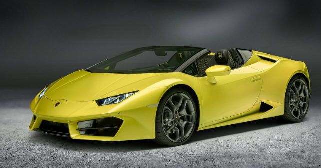 lamborghini huracan rwd spyder launch on february 1. Black Bedroom Furniture Sets. Home Design Ideas