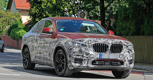 new spy shots of 2018 bmw x4 emerge autox. Black Bedroom Furniture Sets. Home Design Ideas