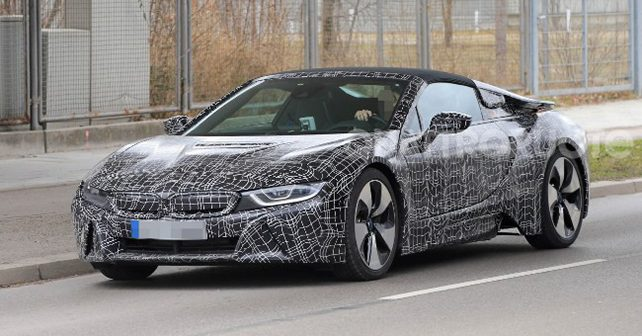 bmw i8 roadster spied testing autox. Black Bedroom Furniture Sets. Home Design Ideas