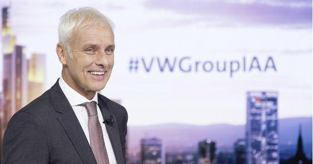 Matthias Muller VW Group 2017 Frankfurt Motor Show m