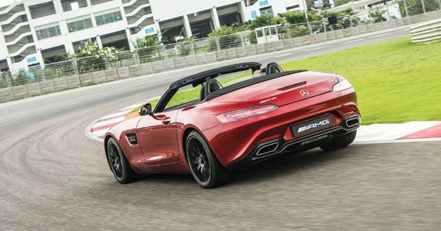 2017 Mercedes-AMG GT Roadster Rear Three Quarter