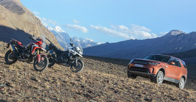 Land Rover Discovery and Trimph Tiger and Honda Africa Twin Travelogue Pic121