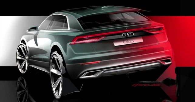 Audi Q8 sketched from behind