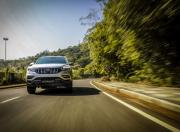 Mahindra Alturas G4 review action image front three quarter tracking