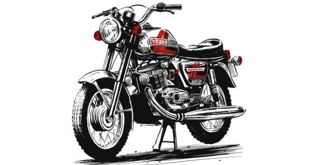 Yezdi Roadking Image Sketch India Revival M
