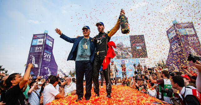 Jean-Eric Vergne Winner of Sanya E-Prix