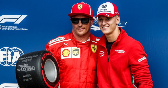 Mick Schumacher with Kimi Raikkonen
