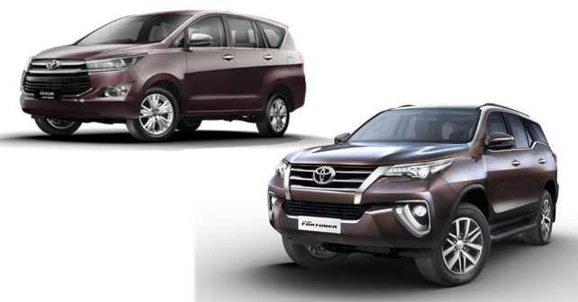 Toyota Innova Crysta And Fortuner