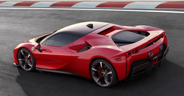 Ferrari SF90 Stradale Rear Quarter View