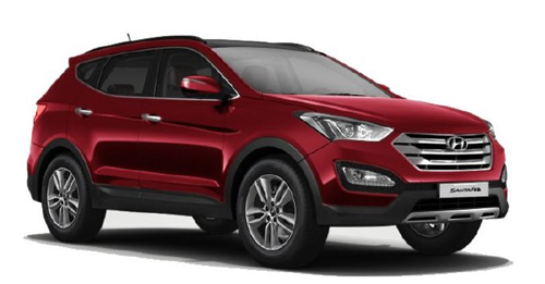 Hyundai Santa Fe [2014-2017] Colours - View Hyundai Santa Fe [2014-2017] colours available in Indian market at autoX. Choose your favorite Hyundai Santa Fe [2014-2017] colour and book new car now is available in 5 colours in India. Explore Hyundai Santa Fe [2014-2017] with multiple color options like Sleek Silver, Pure White, Phantom Black, Stardust, Wine Red.
